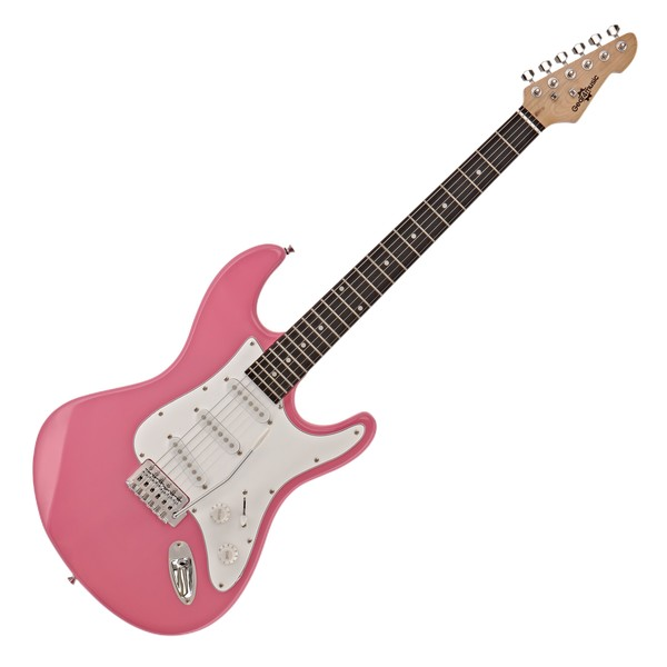 LA Electric Guitar by Gear4music, Pink