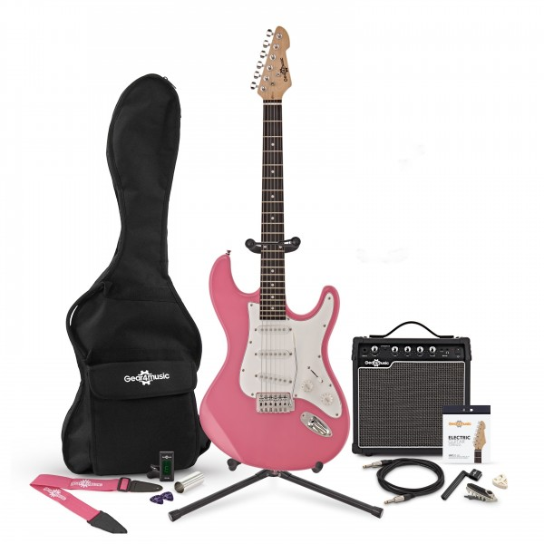 LA Electric Guitar + Complete Pack, Pink