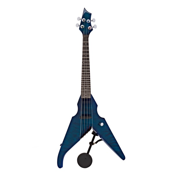 Wood Viper 4 String Electric Violin, Caribbean Blue Quilt Maple