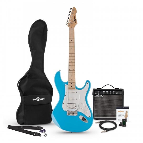 LA II Electric Guitar HSS + Amp Pack, Sky Blue
