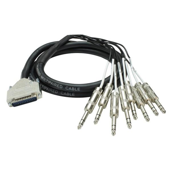 Custom Lynx WLDAJ/3, DB25 to 8 x TRS Jack Plug, 3 Metre - Coiled