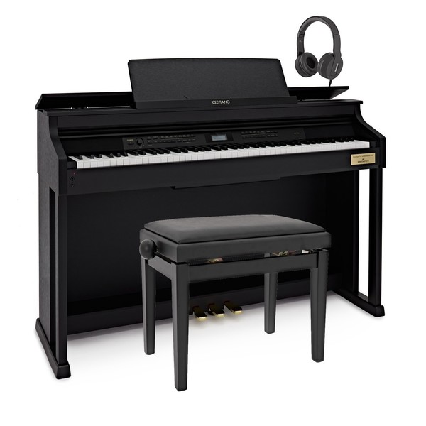 Casio Celviano AP 710 Digital Piano Package, Satin Black