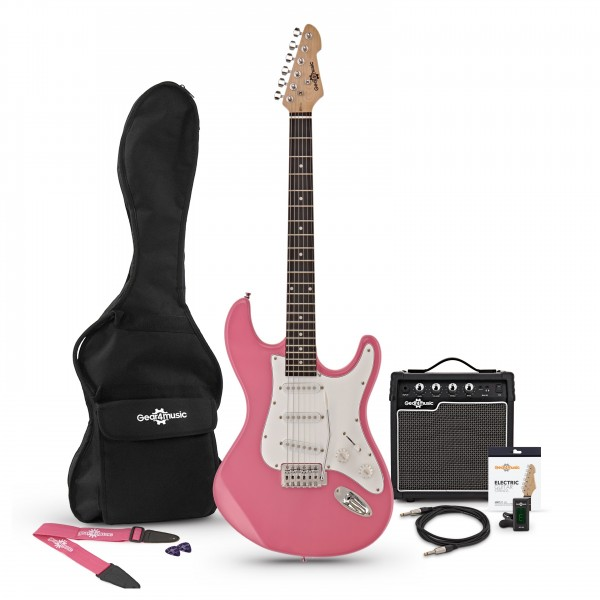 LA Electric Guitar + Amp Pack, Pink