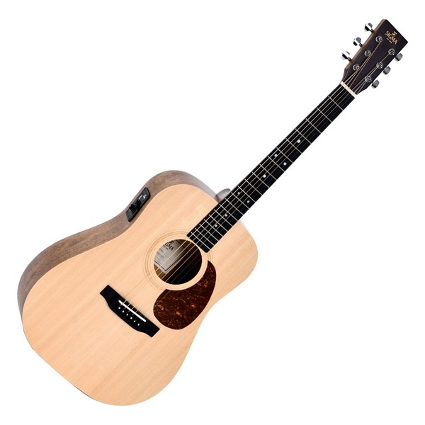 Sigma DSME Dreadnought Electro Acoustic, Natural - Front View