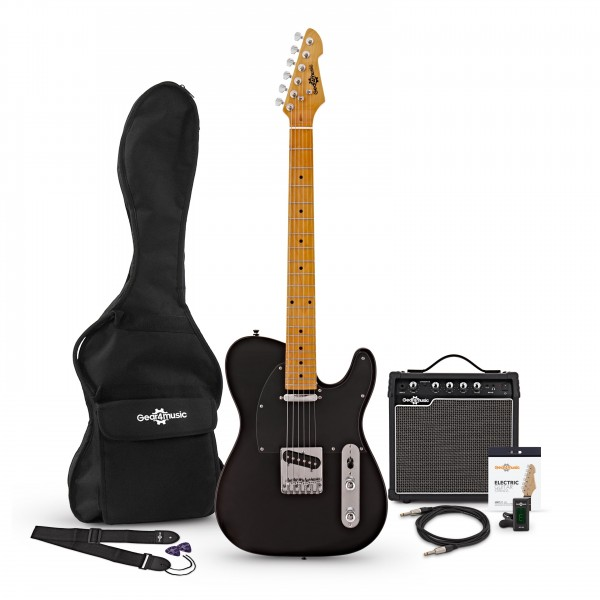 Knoxville Electric Guitar + Amp Pack, Black