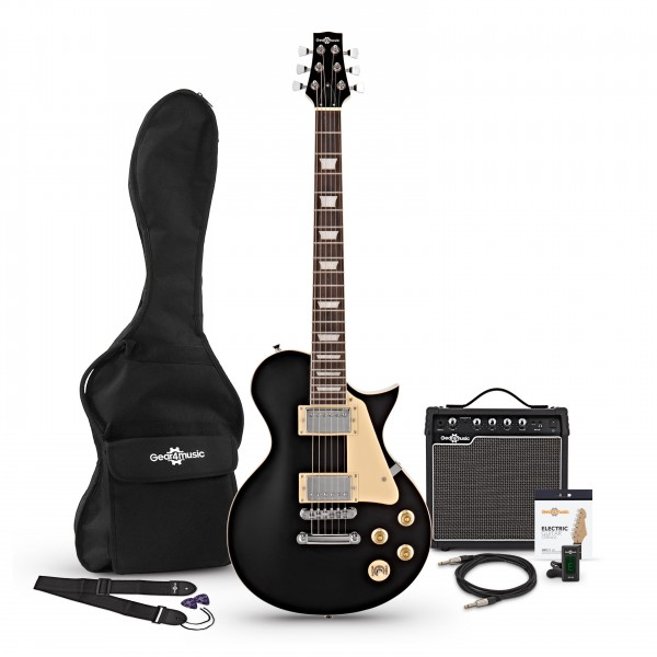 New Jersey Electric Guitar + 15W Amp Pack, Black