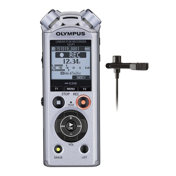 Olympus LS-P1 Lavalier Kit - Front with mic