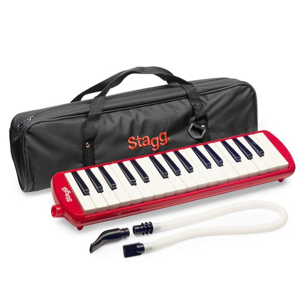 Stagg Melodica, 32 Keys, Red