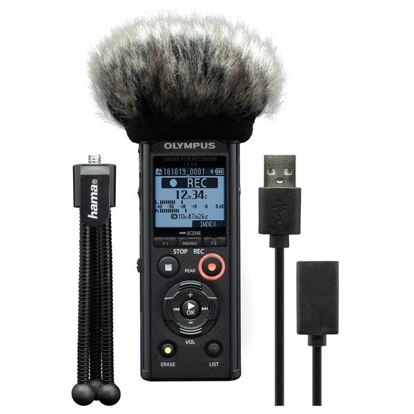 Olympus LS-P4 Podcaster Kit - Full Bundle