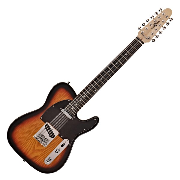 Knoxville Deluxe 12 String Electric Guitar by Gear4music, Sunburst