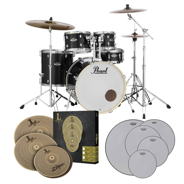 Pearl Export EXX 22'' Practice Bundle, Jet Black