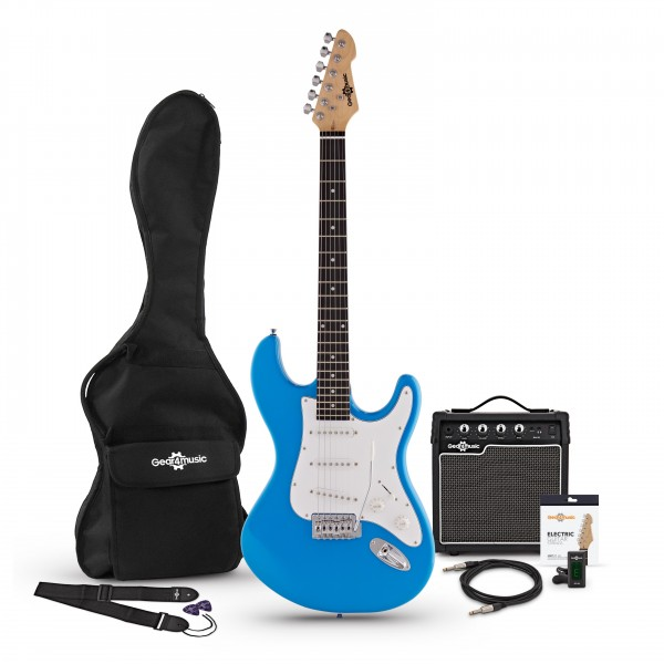 LA Electric Guitar + Amp Pack, Blue