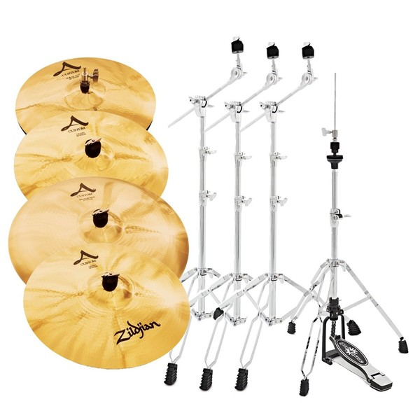 Zildjian A Custom Cymbal Box Set with Stands