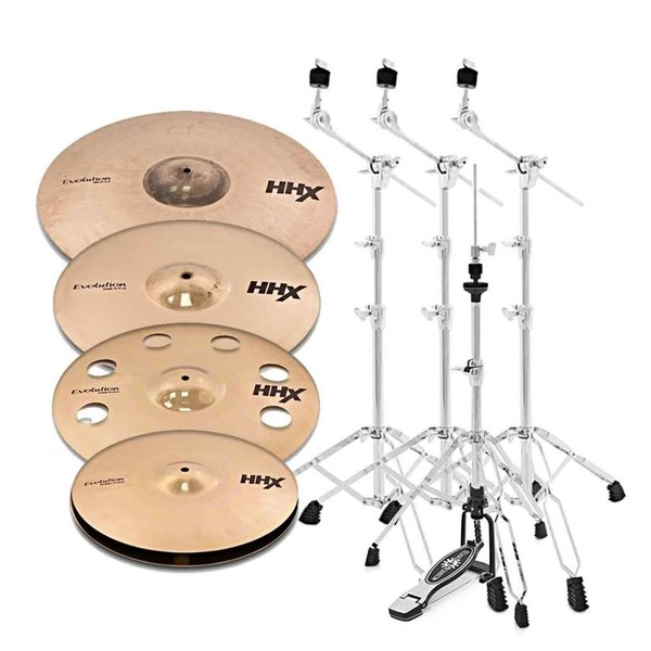 "Sabian HHX Evolution Promo Set with 18"" O-Zone Crash and Stands"
