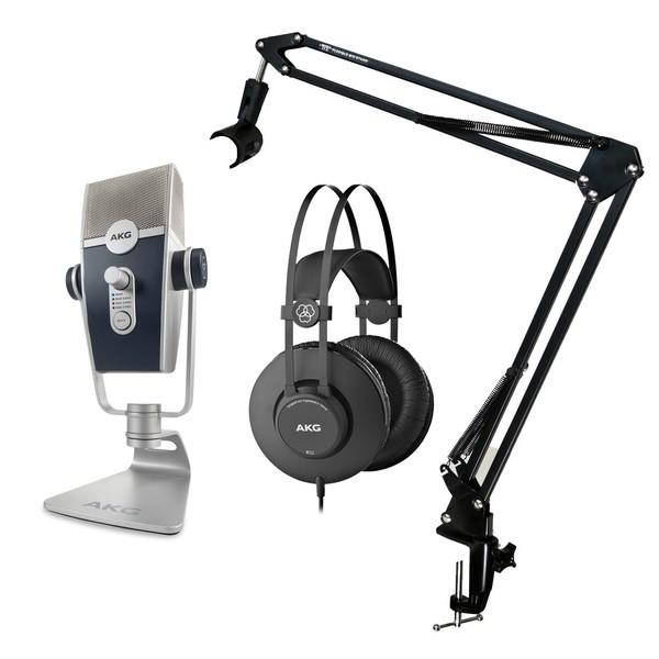 AKG Lyra USB mikrofon med Hodetelefoner   Gear4music