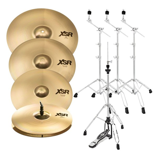 """Sabian XSR Performance Cymbal Set with 18"""" Fast Crash and Stands"""
