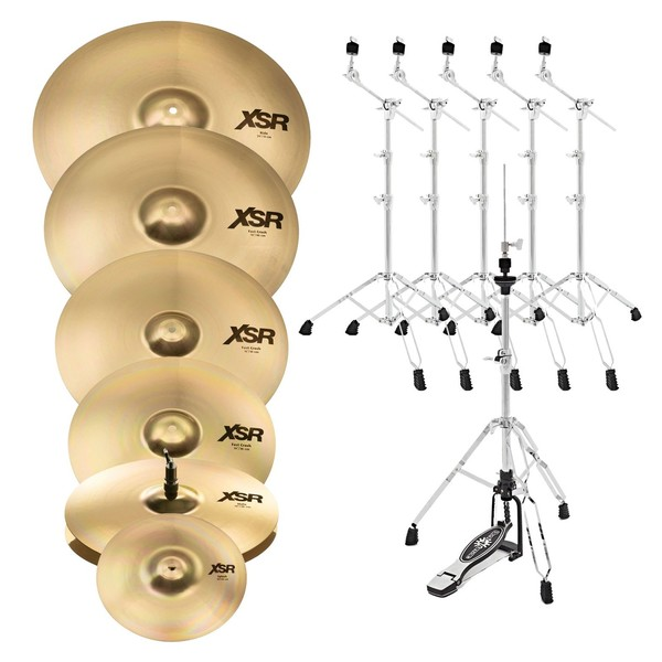 Sabian XSR 6 Piece Super Cymbal Box Set with Stands