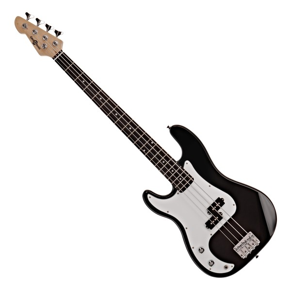 LA Left Handed Bass Guitar by Gear4music, Black