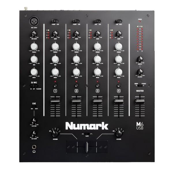 Numark M6 Professional USB DJ Mixer - Top