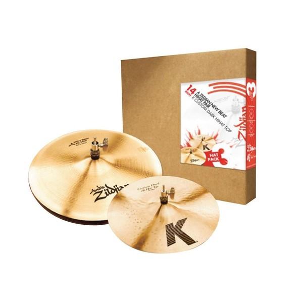 Zildjian 3 Hat Pack w/14'' New Beat Pair & K Custom 14'' Top