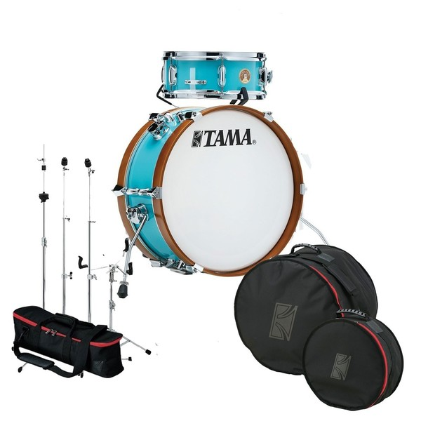Tama Club Jam Mini Gig Pack w/Hardware and Bags, Aqua Blue