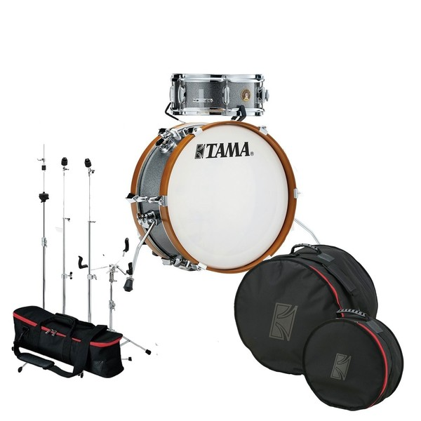 Tama Club Jam Mini Gig Pack w/Hardware and Bags, Galaxy Silver
