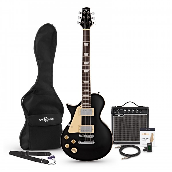 New Jersey Left Handed Electric Guitar Pack, Black