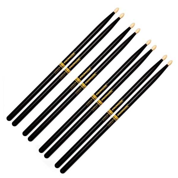 ProMark Classic 5A ActiveGrip Drum Sticks, 4 Pair Value Bundle
