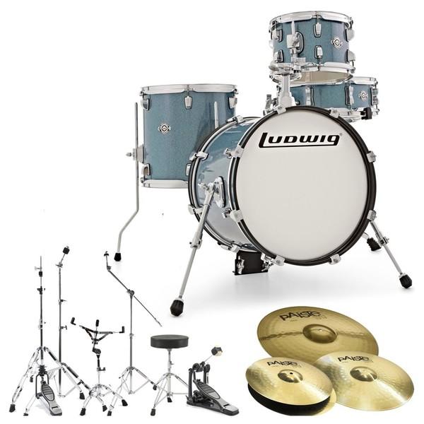 Ludwig Breakbeats Questlove Drum Kit Bundle, Azure Blue