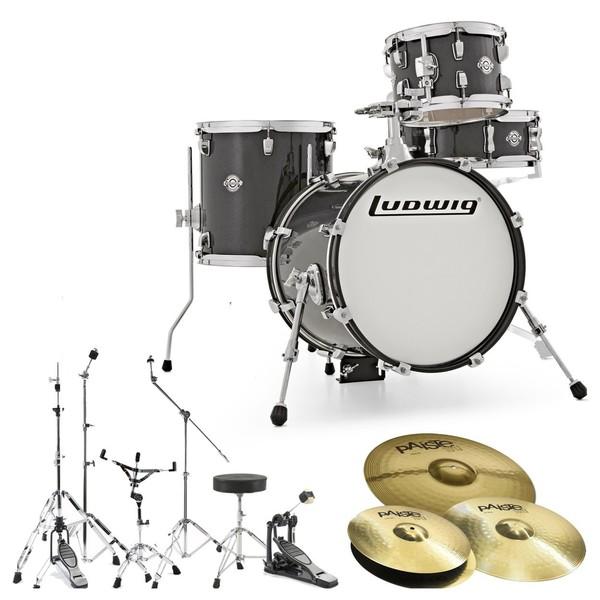 Ludwig Breakbeats Questlove Drum Kit Bundle, Black Gold