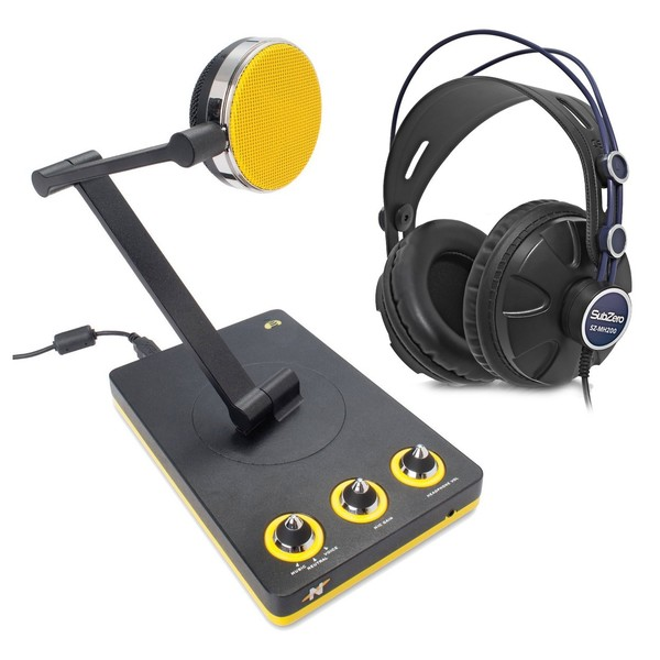 Neat Bumblebee Desktop USB Microphone with Headphones - Full Bundle