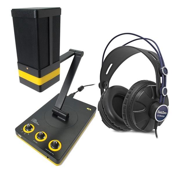 Neat Beecaster Desktop USB Microphone with Headphones - Full Bundle