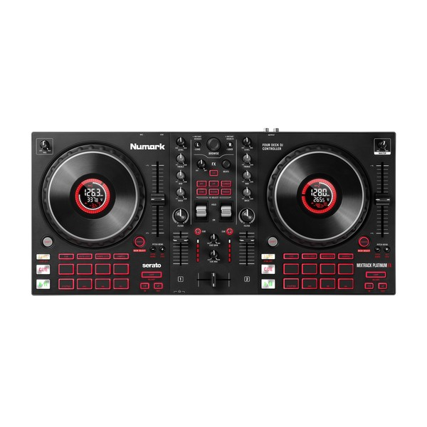 Numark Mixtrack Platinum FX DJ Controller top view