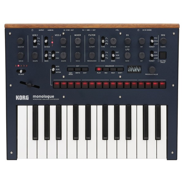Korg Monologue Analogue Synthesizer, Blue - Top