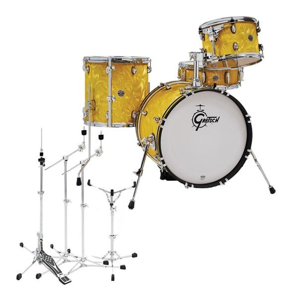 Gretsch Catalina Club Jazz 18'' w/Flat Base Hardware, Yellow Flame