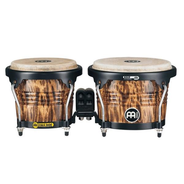 "Meinl Percussion Free Ride Designer 6 3/4"" & 8"" Bongos, Leopard Burl"