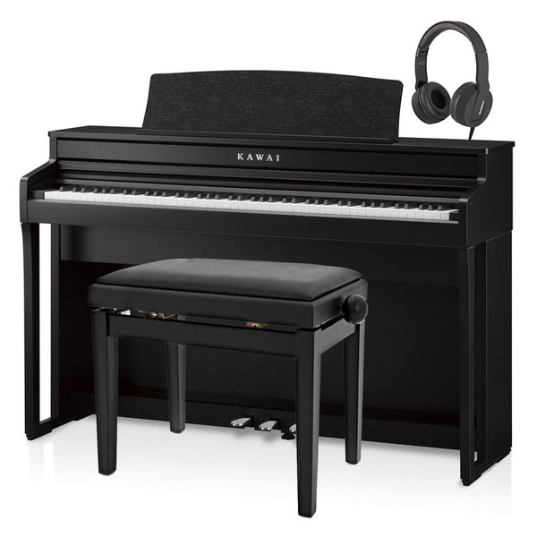 Kawai CA49 Digital Piano Package, Satin Black