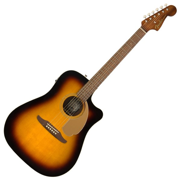 Fender Redondo Player Electro Acoustic WN, Sunburst - Front View