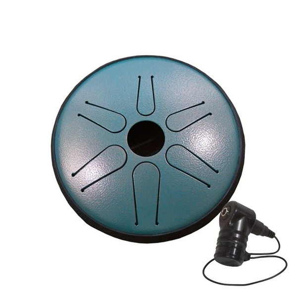 Idiopan Bella 6'' Tunable Steel Tongue Drum w/Pick Up, Dragon Green