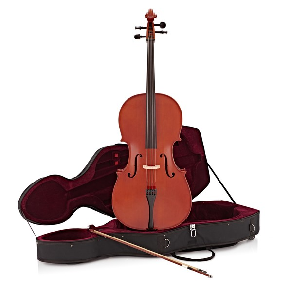 Student Plus 3/4 Size Cello with Case by Gear4music