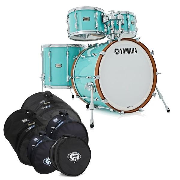 "Yamaha Recording Custom 22"" 4pc Shell Pack, Surf Green w/Bag Set"