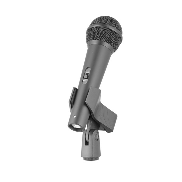 Stagg SUM20 Desktop Mic & Stand Pack, Microphone Front Angled Right