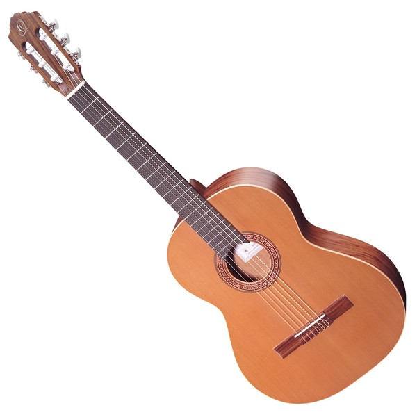Ortega R180L Nylon Left Handed, Solid Cedar Top - Front View