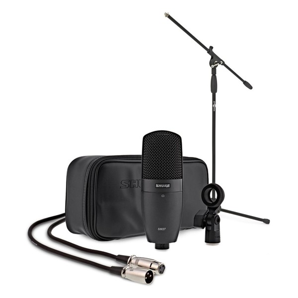Shure SM27 Condenser Microphone with Stand and Cable