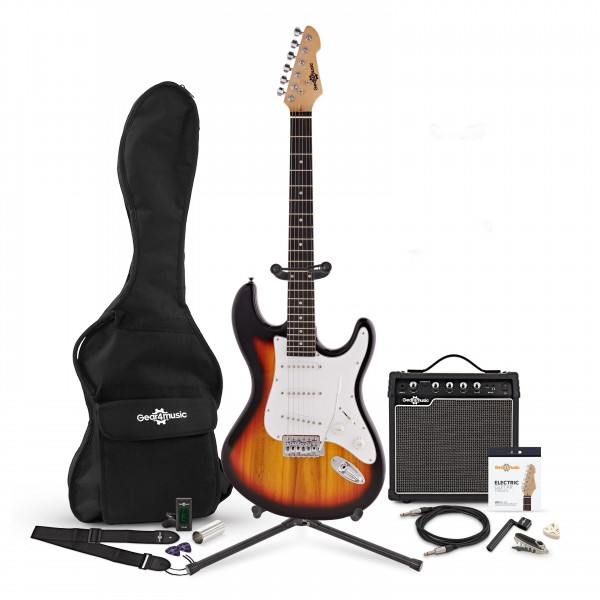 LA Electric Guitar + 15W Complete Pack, Sunburst
