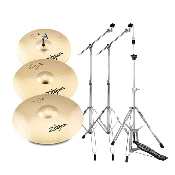 Zildjian Planet Z Complete Pack Cymbal Set with Stands