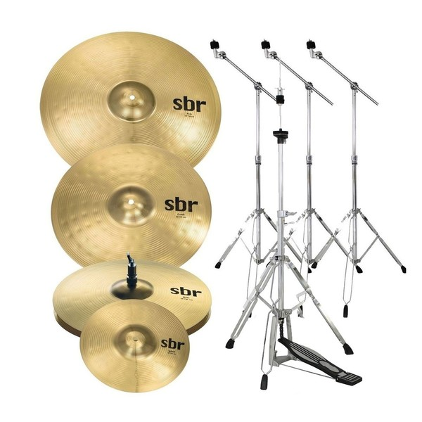 """Sabian SBR Promo Cymbal Set with 10"""" Splash and Stands"""