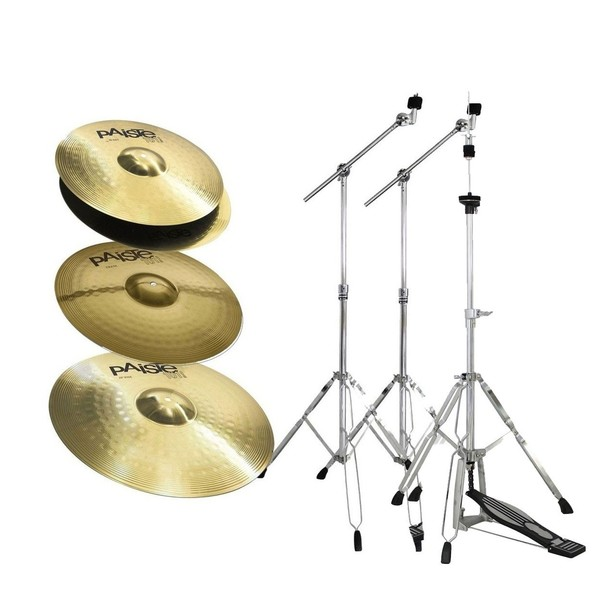 Paiste 101 Universal Brass Cymbal Pack with Stands