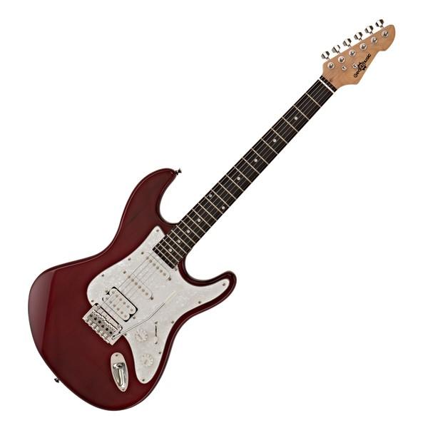 LA II Electric Guitar HSS by Gear4music, Trans Red