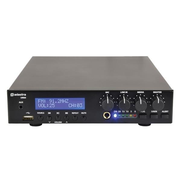 Adastra UM60 Compact 100V Mixer-Amp, Front